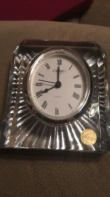 Concept lead crystal quartz clock