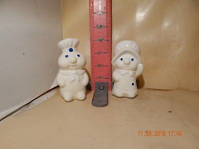 Pillbury Doughboy & Poppin' Fresh Salt & Pepper Shaker Set - No Damage!