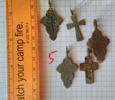 it is a lot of ancient orthodox Russian couple men's and female cross