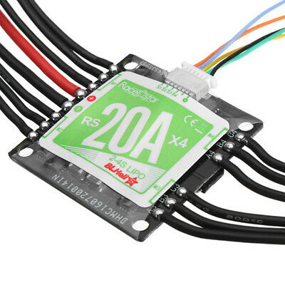 Racerstar RS20Ax4 20A 4 in 1 Blheli_S Opto ESC 2-4S Support Dshot150 Dshot300...
