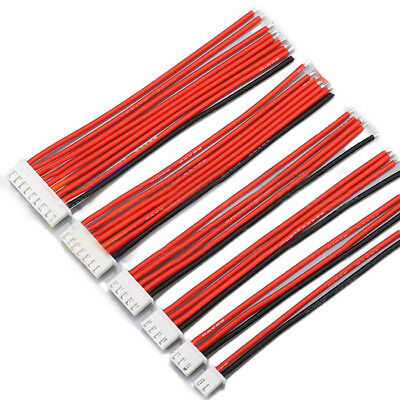 2.54XH 22AWG 13CM 1S 2S 3S 4S 6S 8S Balance Cable Silicone Wire for Lipo Batt...