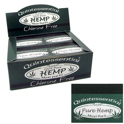 Quintessential® PURE HEMP MAXI Packs Smoking Filters Rolling Tips Papers Roaches