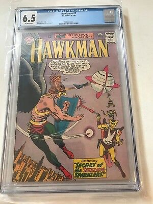 Hawkman #2 CGC 6.5 Comic Book 1964 off white pages DC Comics