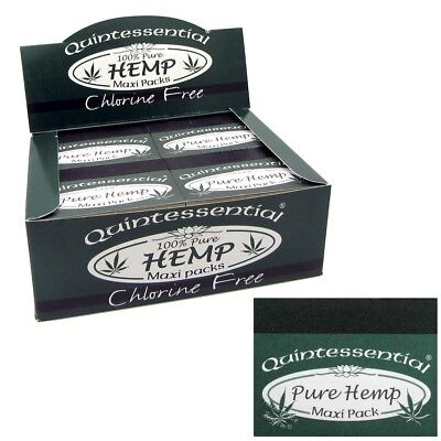 Quintessential® PURE HEMP MAXI Smoking Filters Rolling Tips Roaches FULL BOX