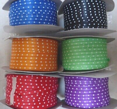 3mm Swiss / Polka Dot Satin Ribbon, 3 metres - choice of Colours
