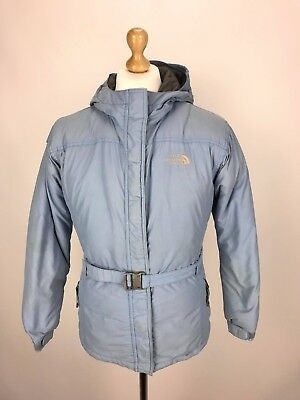 THE NORTH FACE HYVENT Down Fill Parka Jacket Coat XL Girls / Small Womens Blue