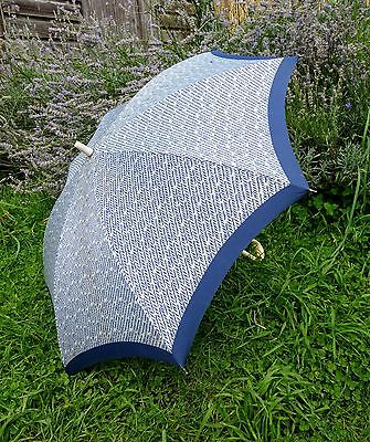 Pierre Cardin Navy & White Vintage 1960s Umbrella