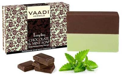 100% Organic Vaadi Herbals Refreshing Lemon & Basil Soap 75g with Essential Oil