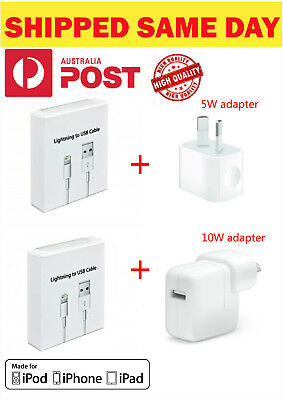 Apple 5W 10W 12W USB Power Adapter Wall For Fast iPhone 5 6 Plus 7 8 X iPad air