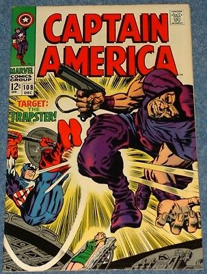 CAPTAIN AMERICA # 108 (1968) -  vs the Trapster - Classic Silver Age Marvel!