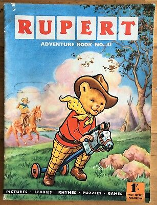 RUPERT Adventure Series No 41 Rupert Adventure Book Pub 1960 VG JANUARY SALE!