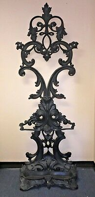 Vintage/Antique Victorian Cast Iron Hall Tree Umbrella Stand