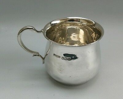 Vintage 1937 Harrison Fisher & Co Solid Silver Christening Cup Mug ABR 86g