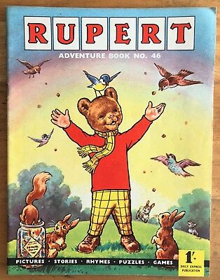 RUPERT Adventure Series No 46 Rupert Adventure Book 1962 VERY FINE JANUARY SALE!