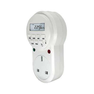 AC220V-240V 13A Digital Programmable Power Timer Switch LCD Control Time UK stck