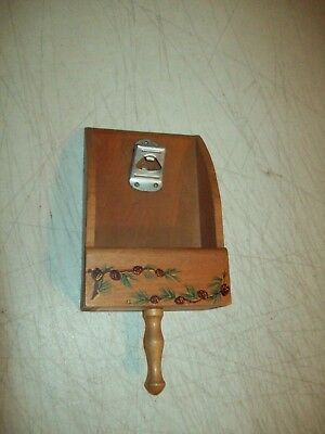 vintage Recipe NOTE Box with can opener attached Folk Art made in Japan