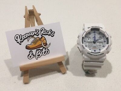 5b6b9856c09ce CASIO MEN S GA100A-7 G-Shock X-Large Analog-Digital White and Blue ...