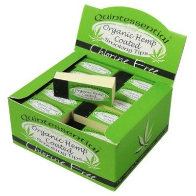 Quintessential® ORGANIC HEMP COATED Standard Filter Tips Rolling Papers Roach