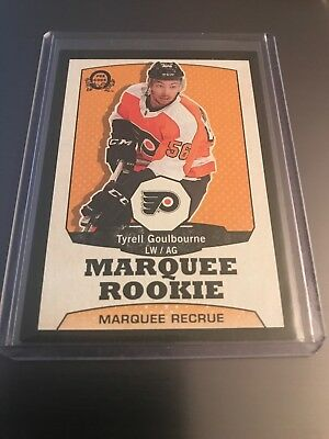 2018-19 O Pee Chee Retro Black Marquee Rookie Tyrell Goulbourne 005/100 Flyers