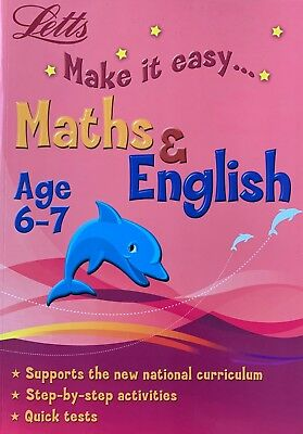 Letts Make it Easy Age 6-7  Maths English, Activities, Revision Tests, NEW