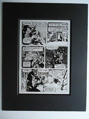 1974 Swamp Thing # 8 Berni Wrightson Page 2 Production Acetate