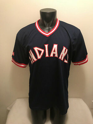 VTG CLEVELAND INDIANS Throwback SGA Jersey Mens XL White 70s ... b7ba5f335