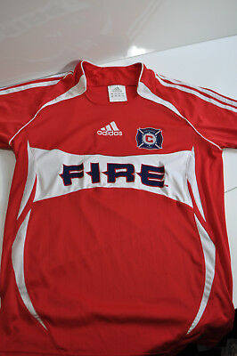 0538569beaf ADIDAS CLIMA COOL Chicago Fire Best Buy Soccer Jersey Shirt MLS Size ...