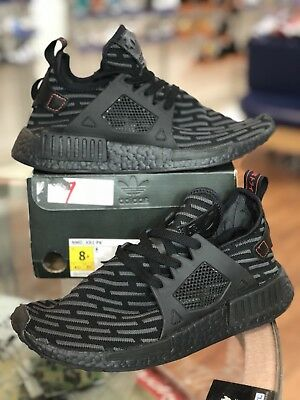 new arrival 65a10 e1f32 ADIDAS NMD XR1 PK BOOST Triple All Black BA7214 Primeknit Black Core Grey