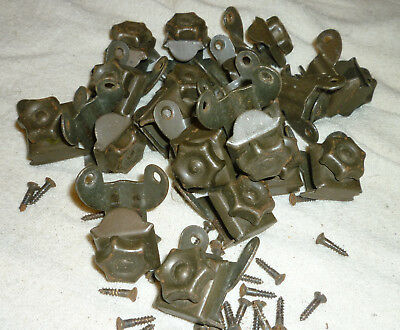 Vintage Art Deco Bronzed Metal Stair Carpet Clips Star Shapped X 30