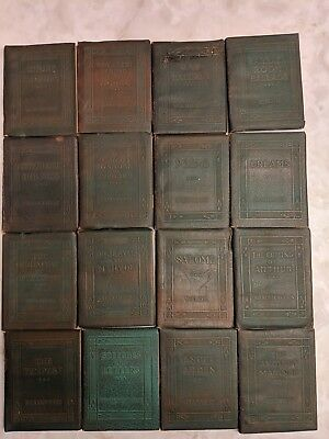 30 Little Leather Library Books Redcroft Edition Vintage 4 Inch Miniature Books