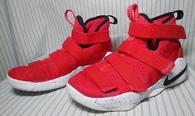 uk availability 3645d 2c132 NIKE LEBRON SOLDIER 11 Red 918369 601 Youth Basketball Shoes Boy's Size 4.5Y