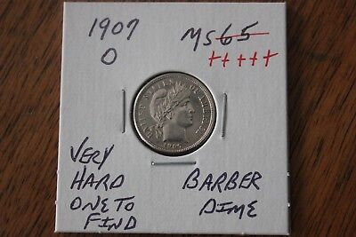 1907-O  Very Hard One To Find    Unc+++  Barber Dime