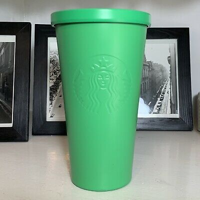 STARBUCKS Kelly Green Matte Stainless Steel Tumbler Cold Cup 16 fl oz  Nice! 🔥