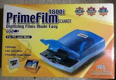 Nib Pacific Image Primefilm 1800u Usb 35mm Slide Film Digital