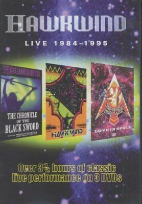 Hawkwind - Live 1984-1995 .Cherry Red Records DVD, 2006. Region Free. Rare.