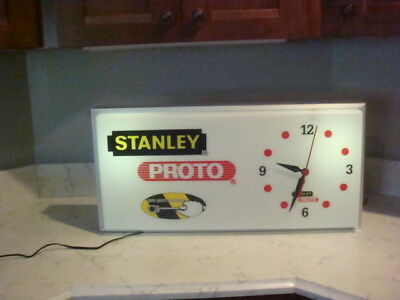 Vintage Stanley Advertising  Clock New Old Stock  Proto Tools Not Pam