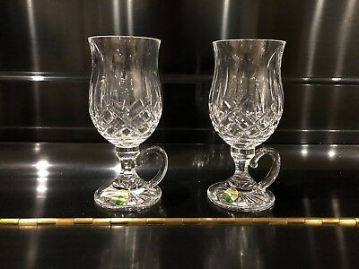ab08183f439 WATERFORD LISMORE IRISH Coffee Mugs Crystal Set Of 2 Nib Never Used