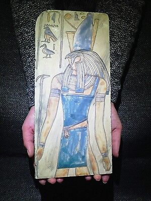 EGYPTIAN ANTIQUES ANTIQUITIES Horus Wearing The Crown Stela Relief 1290-1279 BC