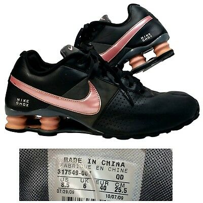 info for 14aaf d63bb ... reduced nike shox deliverwomens 8.5running shoes sneakersblack  pink317549 57660 e5387
