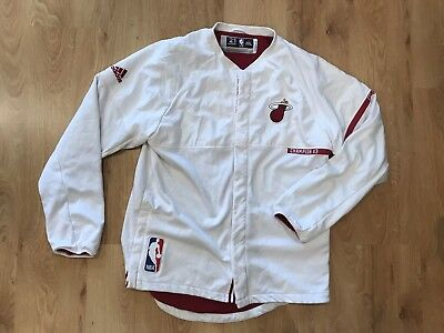 2e1107a5c MIAMI HEAT HASSAN Whiteside 2016 Game Used Worn Warm Up Jacket ...
