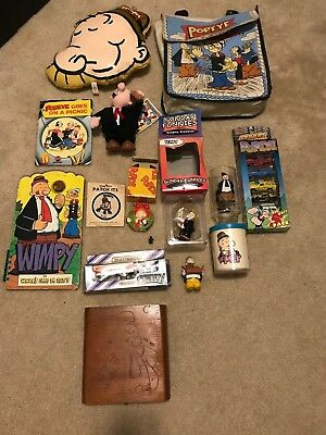 Lot of POPEYE/ mostly WIMPY stuff - Books, Ornaments, Diecast Cars, etc etc