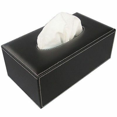 Leather Tissue Box Cover Napkin Toilet Paper Holders Case Home Hotel Office SM