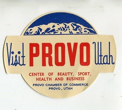 Travel Window Sticker Label Visit PROVO UTAH beauty sport health business
