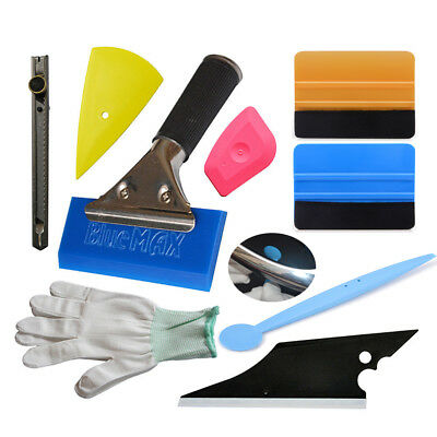 8Pcs Car Home Window Tint Fitting Tools Squeegee Wraps Film Clean Scraper USA