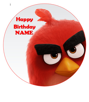 Angry Bird personalised edible Image cake topper real icing sheet 19cm #147