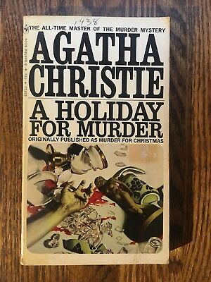 A Holiday For Murder By Agatha Christie 399 Picclick