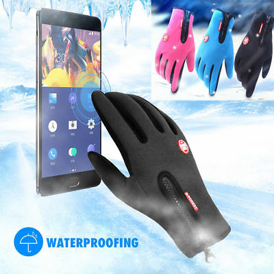 Hot Men Women Winter Insulated Glove Warm Outdoor Thermal Touch Screen Mitten AU