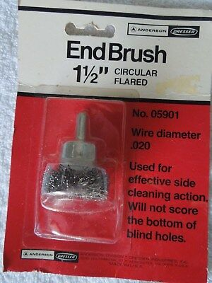 Anderson End Brush 1-1/2 Inch - Circular Flared - .020 Wire by Dresser - USA