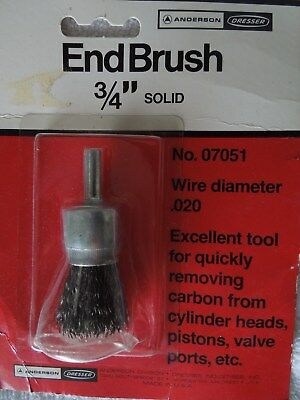 Anderson End Brush - 3/4 Inch Solid - .020 Wire - USA Made