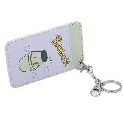 Student Leather Cartoon Cute Drink ID Credit Card Holder Bus Card BS